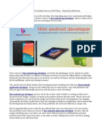 Hire Android App Developer, Best Quality Services at $15/hour - Hyperlink InfoSystem
