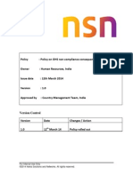 CO India Delivery OHS Non-compliance CMM Policy Ver1.0