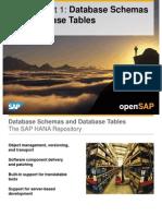 OpenSAP HANA1 Week 02 Database Tasks Loading Modeling