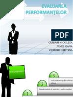 Evaluarea Performanţelor. Metode Comparative