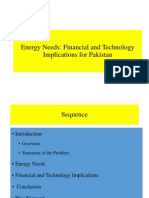 Energy Needs for Pakistan