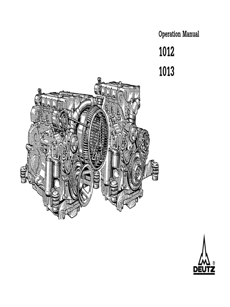 deutz operation and maintenance manual engines oil
