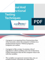 Functional and Non-Functional Testing Techniques