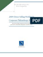 Direct Selling Philanthropy Report 2009