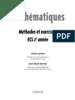 Mathématiques - Methodes Et Exercices ECS 2
