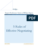 5 Rules of Effective Negotiating