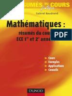 Mathematiques - ECE 1ere 2eme Annee Resumes Du Cours