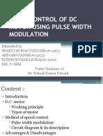 Speed Control of Dc Motor Using Pulse Width