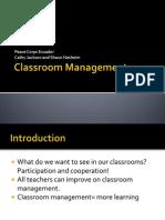 Classroom Management TOT