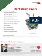 Financing for Overseas Buyers