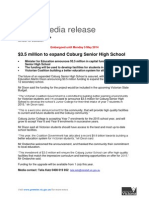 Funding to Expand Coburg Senior High School