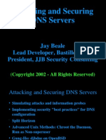 Attacking and Securing DNS Servers