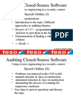 Auditing Closed-Source Software