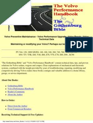 The Volvo Preformance Handbook | Suspension (Vehicle