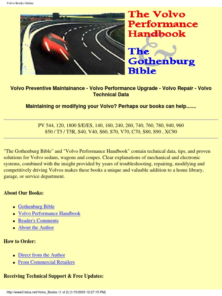 the volvo preformance handbook suspension vehicle. Black Bedroom Furniture Sets. Home Design Ideas
