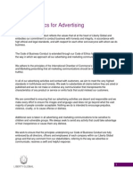 Code of Ethics for Advertising