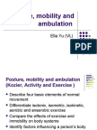 Posture, Mobility and Ambulation