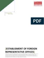 Establishment of Foreign Representative Offices