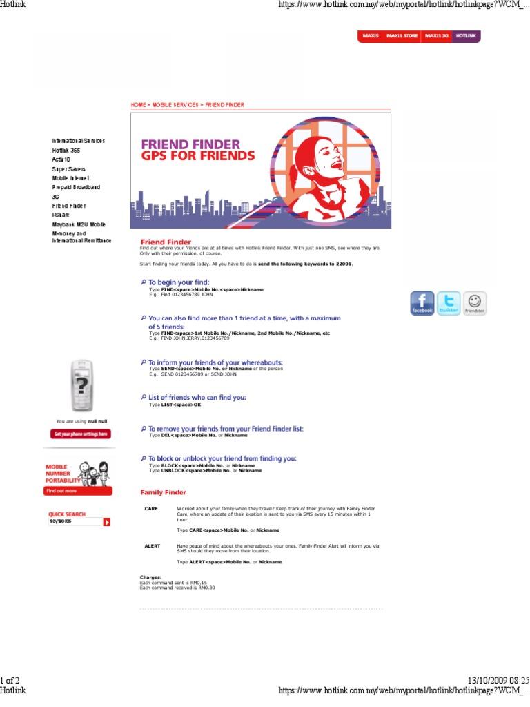 Hotlink Friend Finder | Digital & Social Media | Digital
