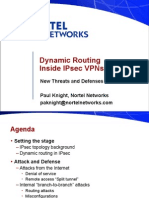 Dynamic Routing Inside IPsec VPNs
