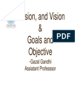 Mission,Vision and Goals and Objectives