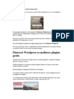 Pinterest Wordpress Os Melhores Plugins Grátis