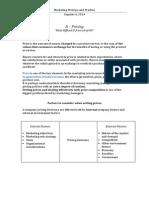 Main factors of pricing