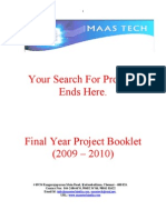 Final year projects list 2009 Bio-Medical and CAN Projects download