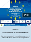 Manifesto for the empowerment of chronic patients