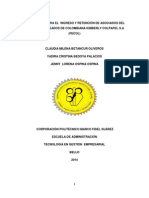 Estrategias Para El Ingreso y Retención de Asociados FECOL
