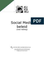 Social Media Beleid 2014 -Voor Leiding