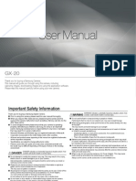 Manual GX 20 English