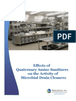 Effects of Quaternary Amine Sanitizers on the Activity of Microbial Drain Cleaners