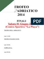 trofeo adratico 2014 - accoppiamento  finali