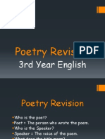 3rd year poetry revision