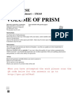 GCSE Maths Exam Topics - Volume of prism - Questions