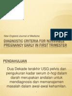 Diagnostic Criteria for Nonviable Pregnancy Early in First Trimester