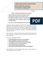 AIBEA Press release disclosing list of loan defaulters