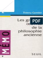 Gontier Grandes Oeuvres de La Philosophie Ancienne