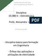 Aula 1 Disciplina Eletrotecnica - Introducao EM