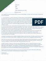 Carta Arq. Tafur - Orden de Pruebas