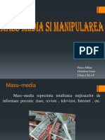 Manipulare Si Mass Media