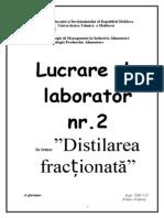 Distilarea fractionata