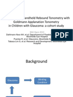 Comparison of Handheld Rebound Tonometry With Goldmann Applanation