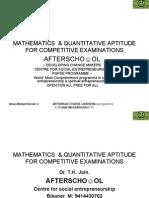 Mathematics & Quantitative Aptitude