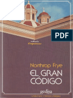 Frye Northrop - El Gran Codigo - Una Lectura Mitologica Y Literaria de La Biblia