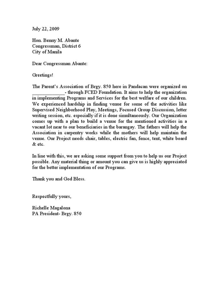 sponsorship letter for music artist pdf