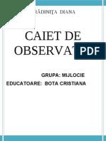 Caiet de Observatii Psihopedagogice