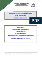 4.a - Determinación de K Mediante Fotoelasticidad