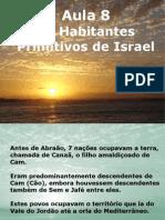 Os Habitantes Primitivos de Israel
